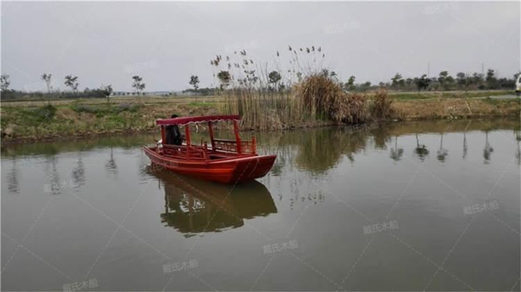 东莞旅游景观电动木船 戴氏电动木船现货销售