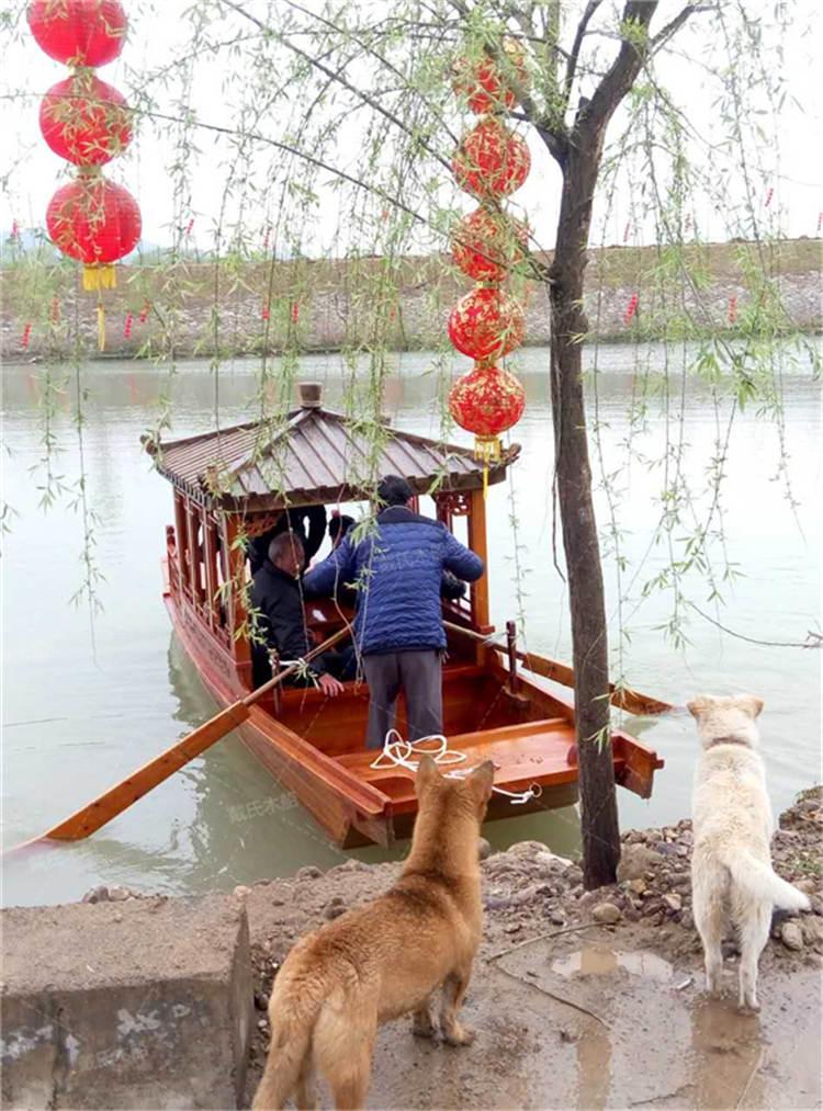 九江小型电动水乡木船 戴氏水乡木船厂家供应