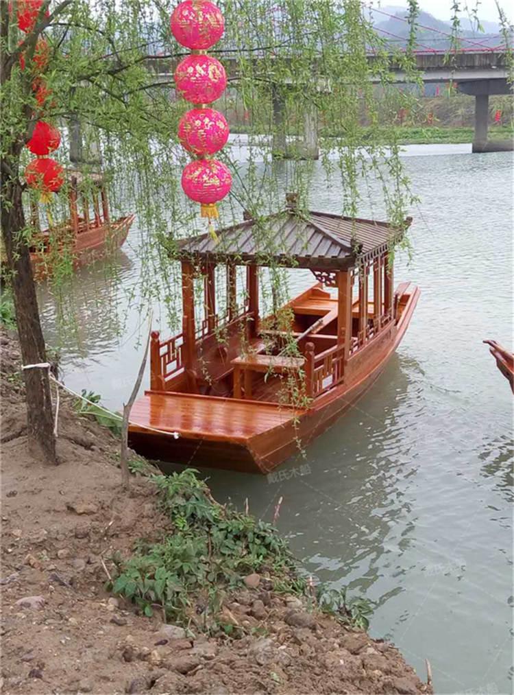 益阳小型电动休闲木船 戴氏休闲木船哪里有卖