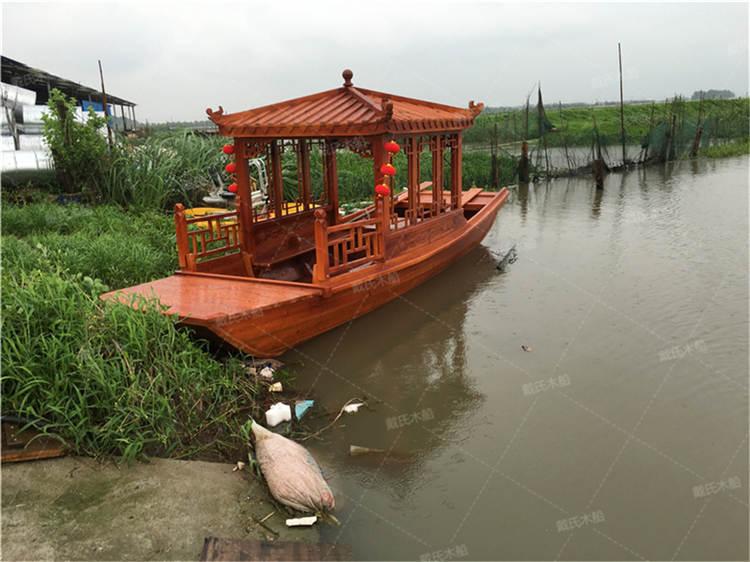 珠海小型电动餐饮木船 戴氏餐饮木船专业定制