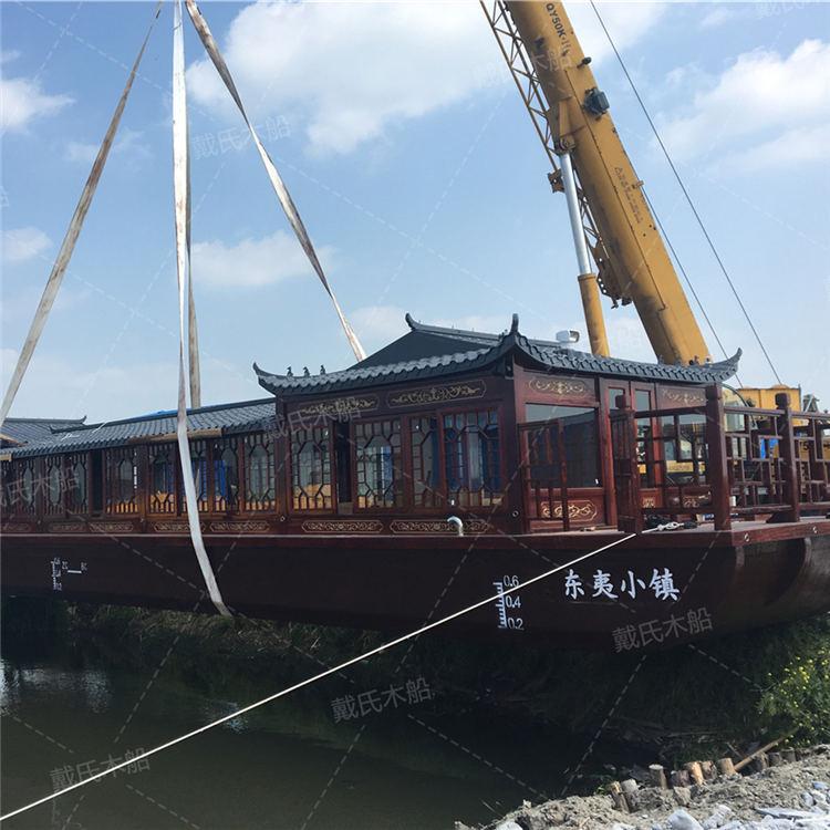景区德宏电动木船戴氏电动木船生产厂家