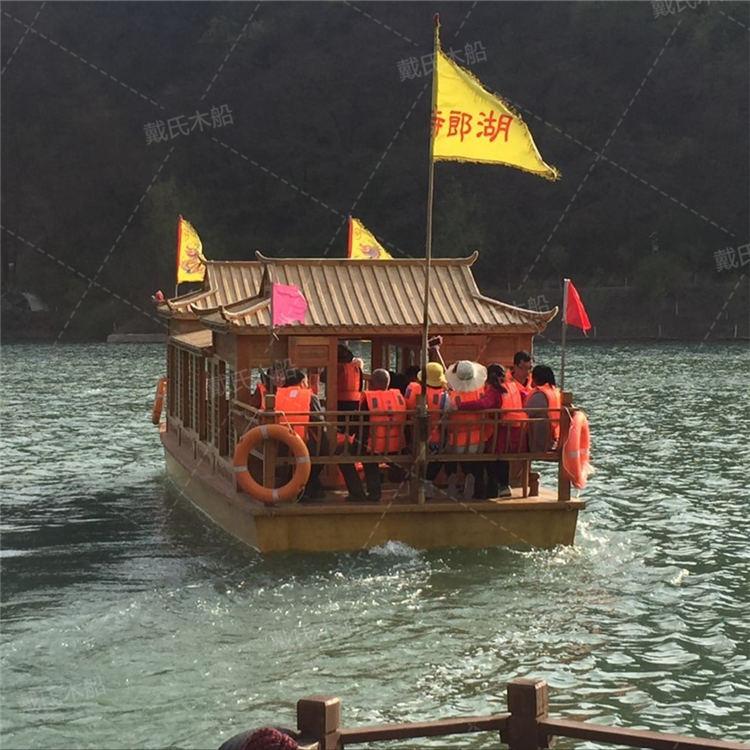实木黄山画舫船戴氏画舫船生产厂家