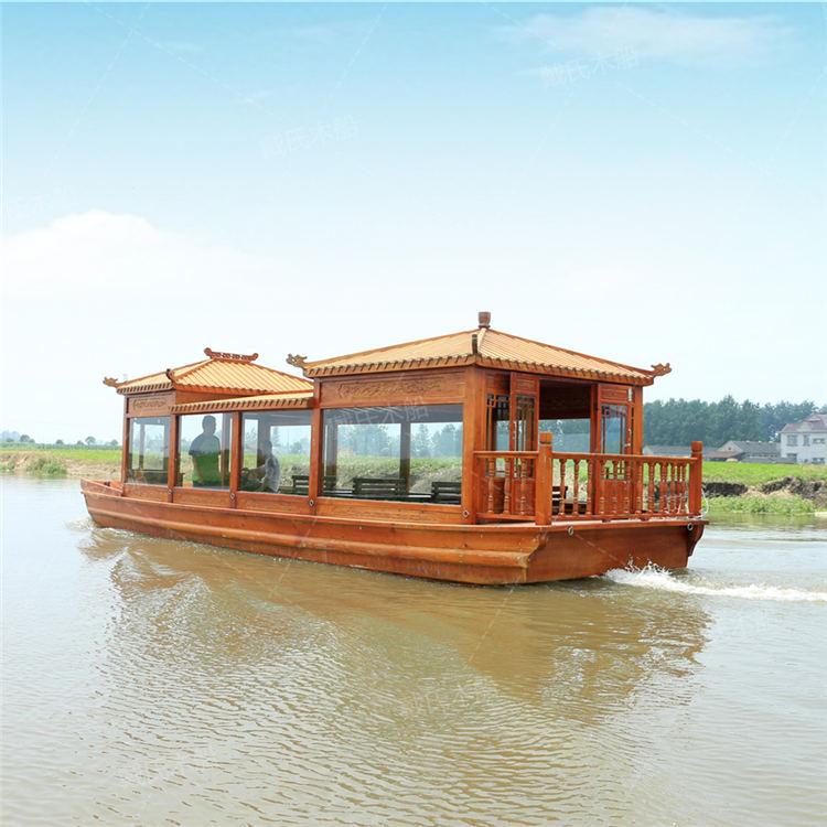 水上鹰潭电动木船戴氏电动木船销售