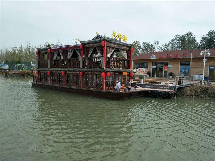 生态观光园阜新电动木船戴氏电动木船销售