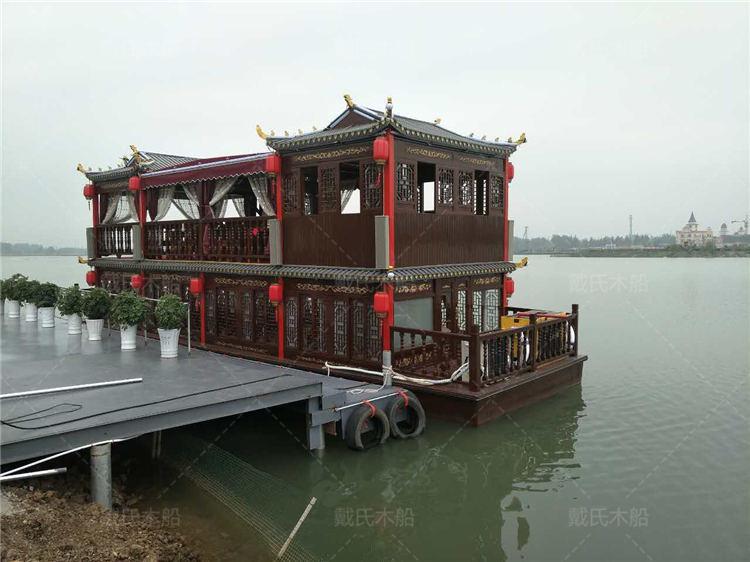 10米毕节大型餐饮船戴氏大型餐饮船定制加工