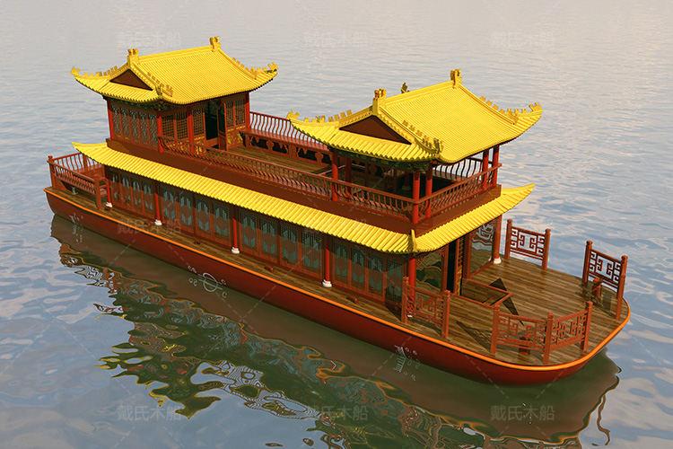 户外毕节大型餐饮船戴氏大型餐饮船销售