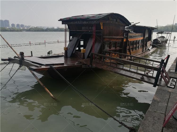 南湖红船设计日照12米南湖红船戴氏木船
