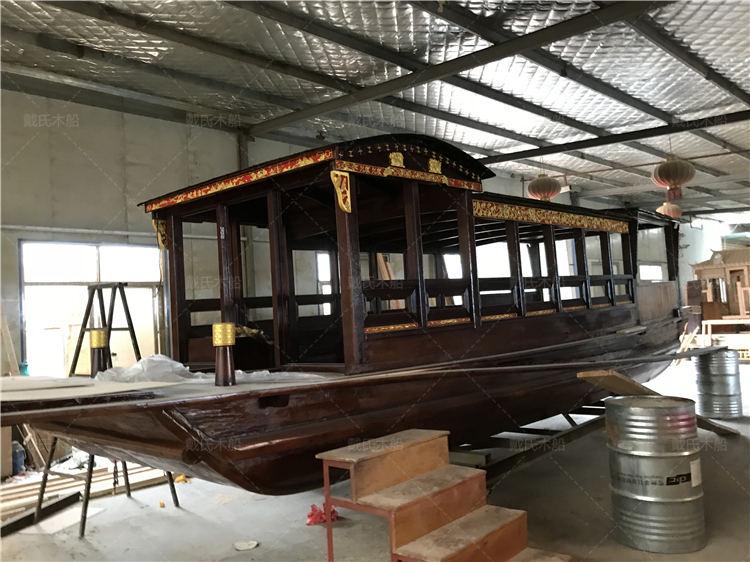 红船厂商定制南昌8米红船戴氏木船
