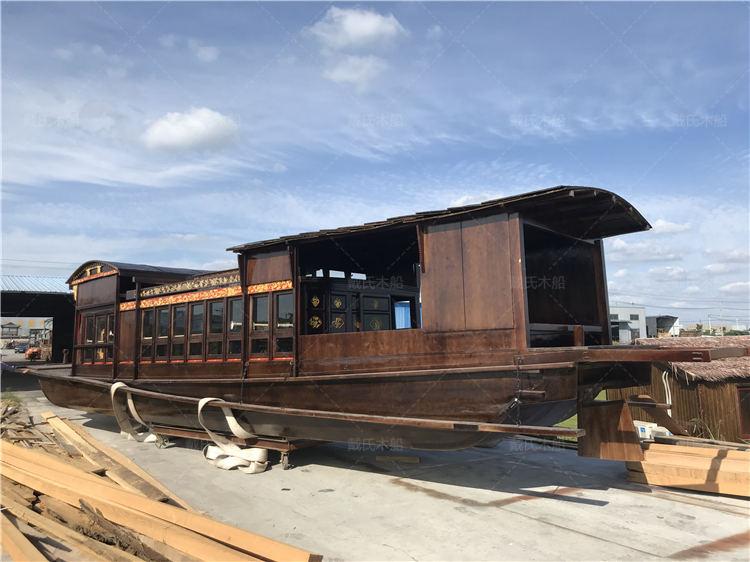 南湖红船厂商定制阜新12米南湖红船戴氏木船