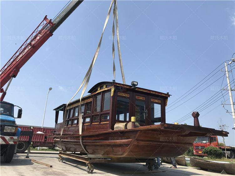 南湖红船厂商定制景德镇12米南湖红船戴氏木船
