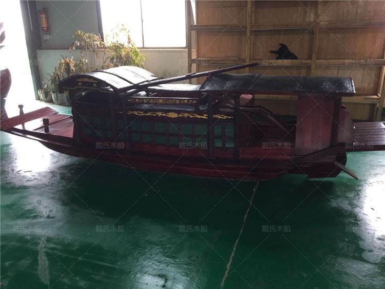 红船生产厂商鹰潭木质红船戴氏木船