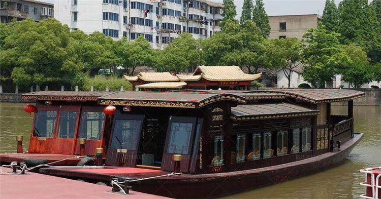 南湖红船订做湘潭豪华南湖红船戴氏木船